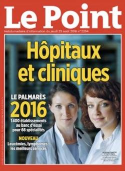 Le Centre Lyonnais de Chirurgie Digestive cité dans le Palmarès Le Point 2016